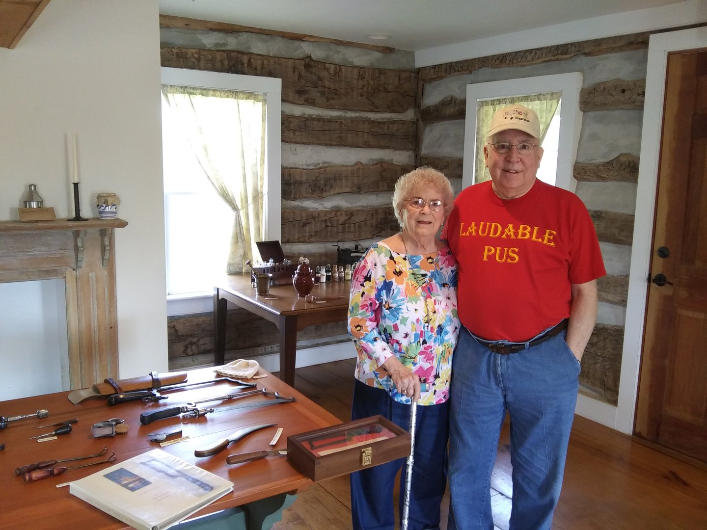 Lee and Jan Davis with the Davis Medical Collection