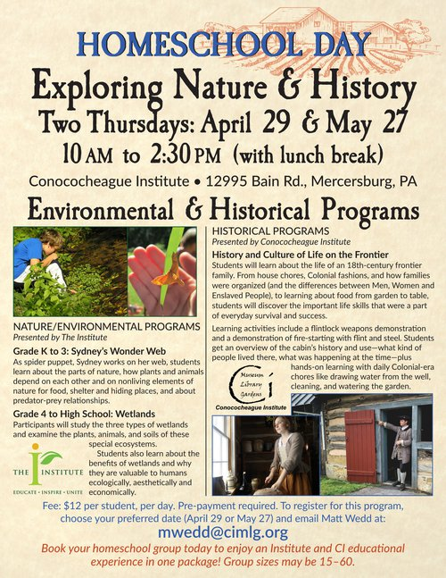 Exploring Nature & History flier spring 2021