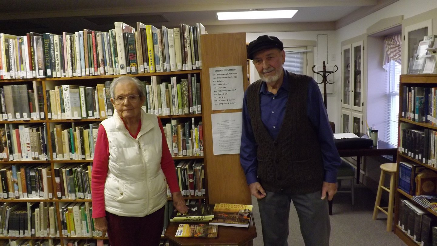 Ann and Ivor, in the library during the Open House